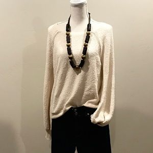 American Eagle Outfitters Cream Sweater